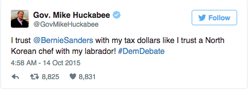 election tweets huckabee