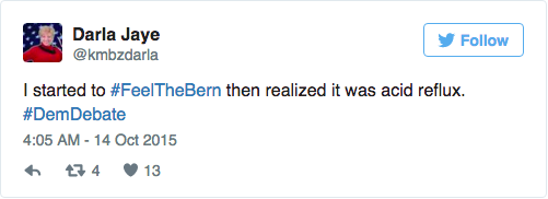 election tweets bernie